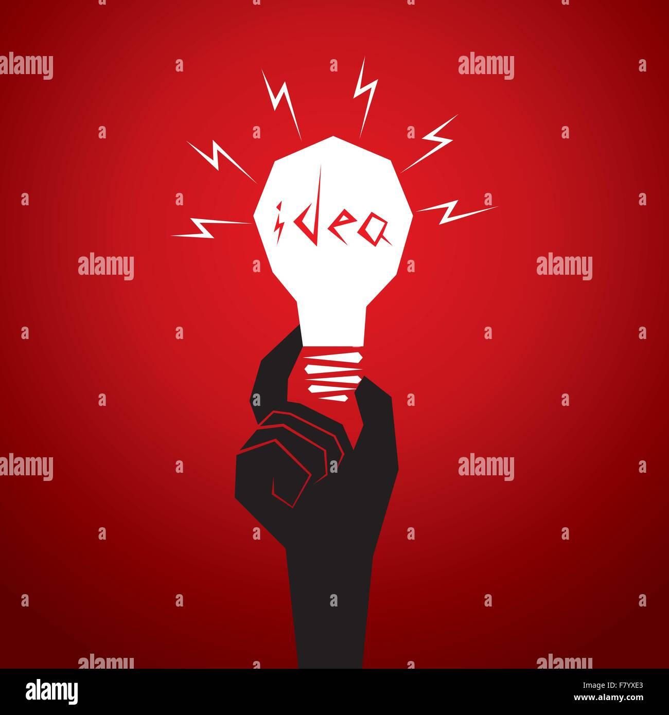 Nouvelle idée concept hommes tête de lampe en Photo Stock
