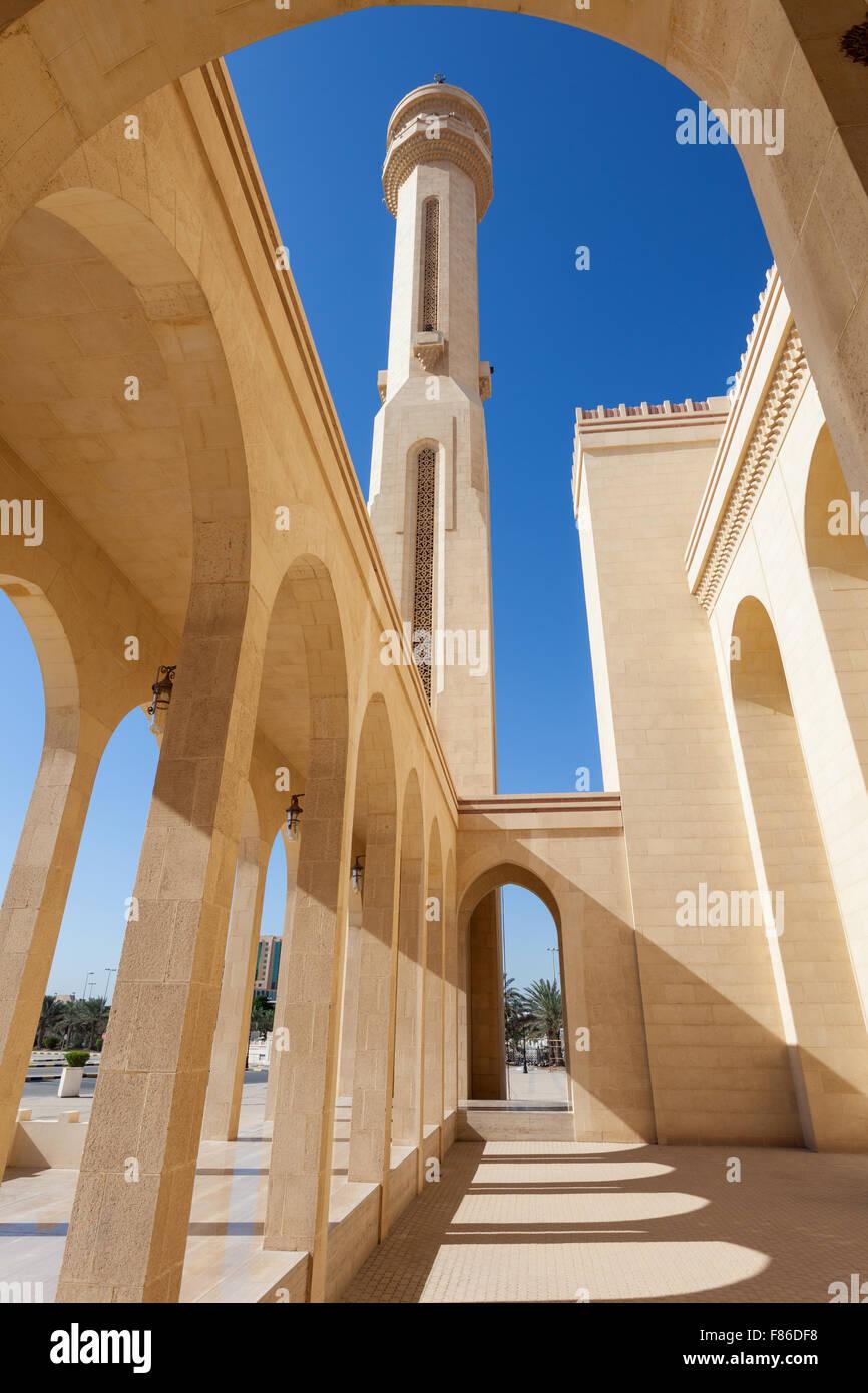 Grande mosquée Al Fateh dans la ville de Manama, Bahreïn Photo Stock