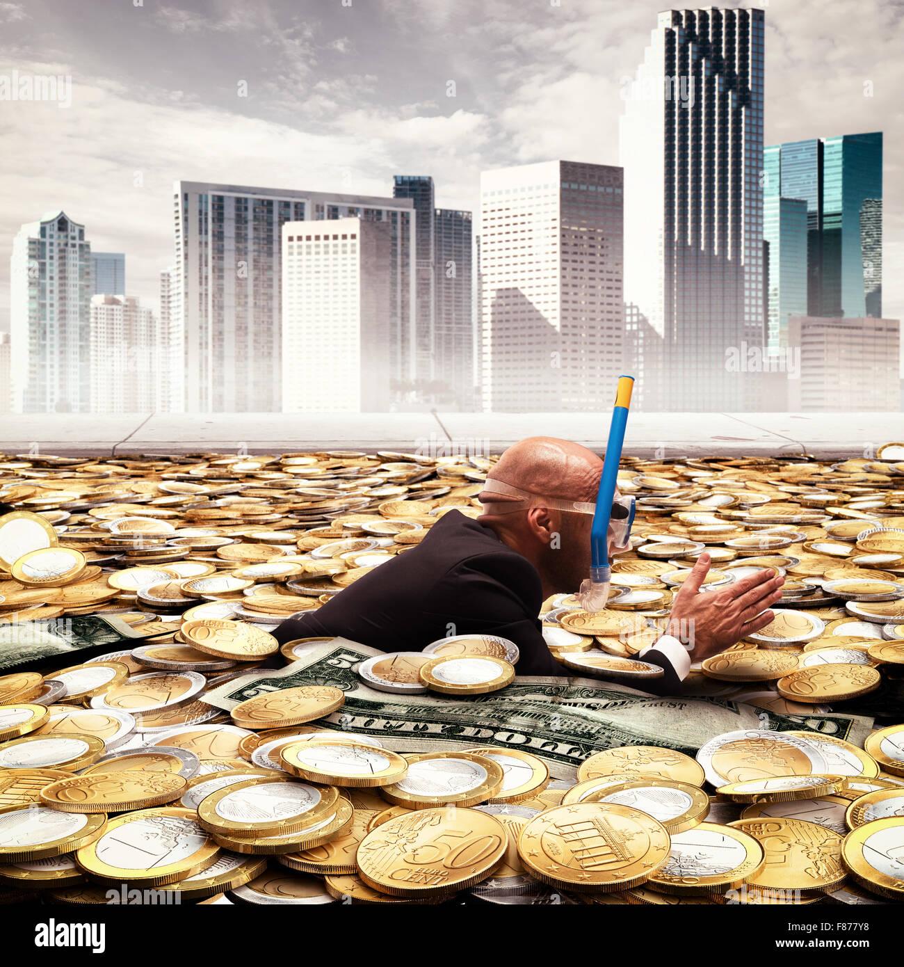 Piscine de la richesse Photo Stock