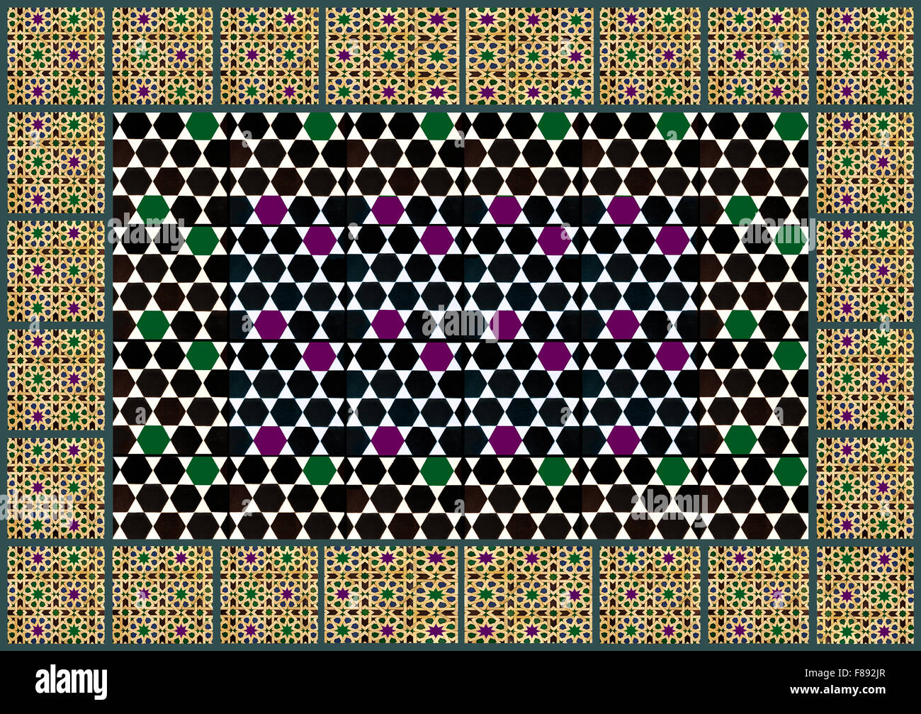 Motif motifs géométriques mauresque Photo Stock