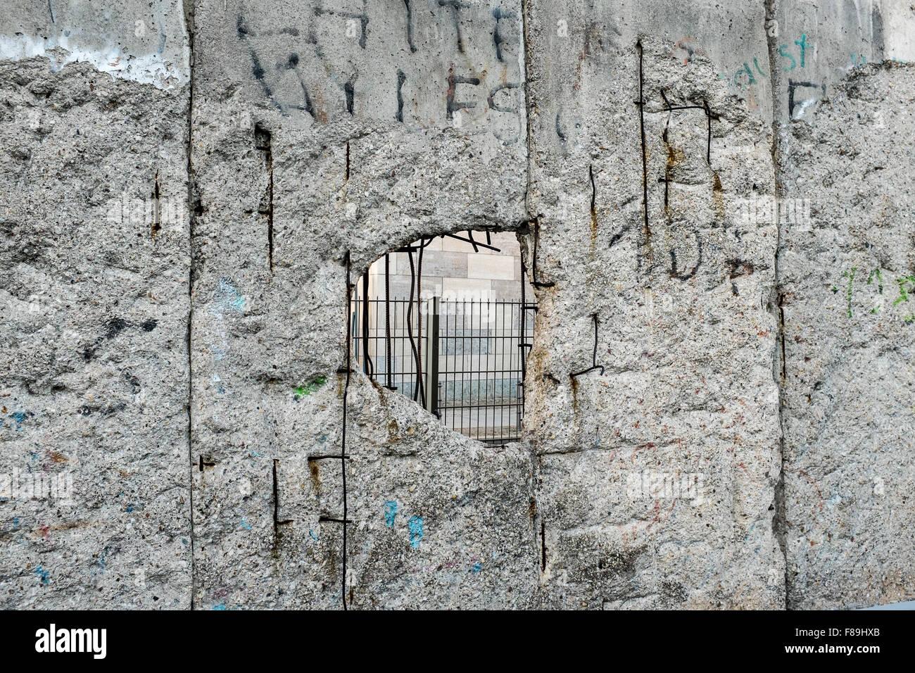 Mur de Berlin, Allemagne Photo Stock