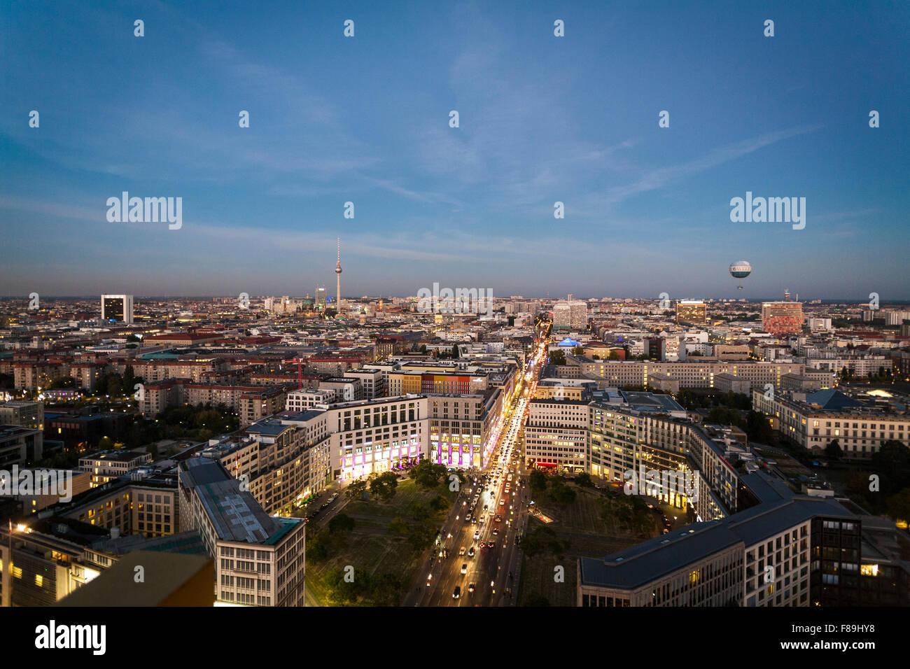 Skyline Berlin, Potsdamer Platz, Allemagne Photo Stock