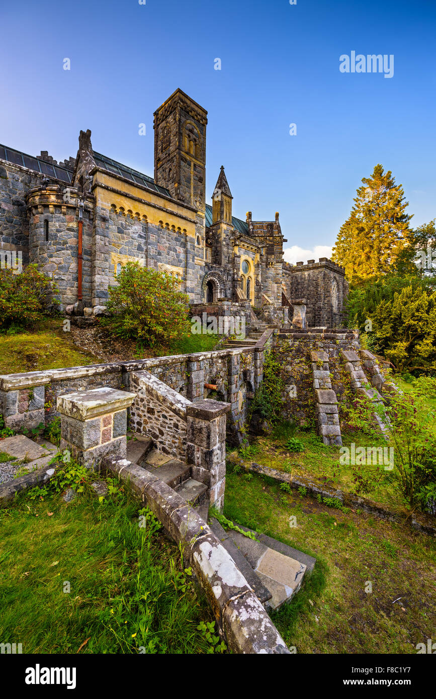 St Conans Kirk situé dans Loch Awe, Argyll and Bute, Ecosse Photo Stock