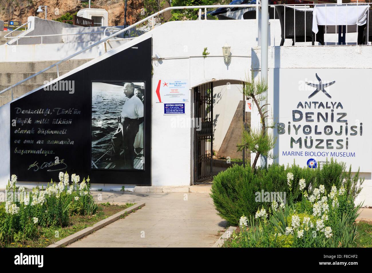 Musée de biologie marine, la Ville d'Antalya, Turquie, Province Éponyme Photo Stock