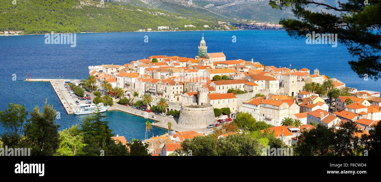 L'île de Korcula, Dubrovnik, Croatie, Europe Photo Stock