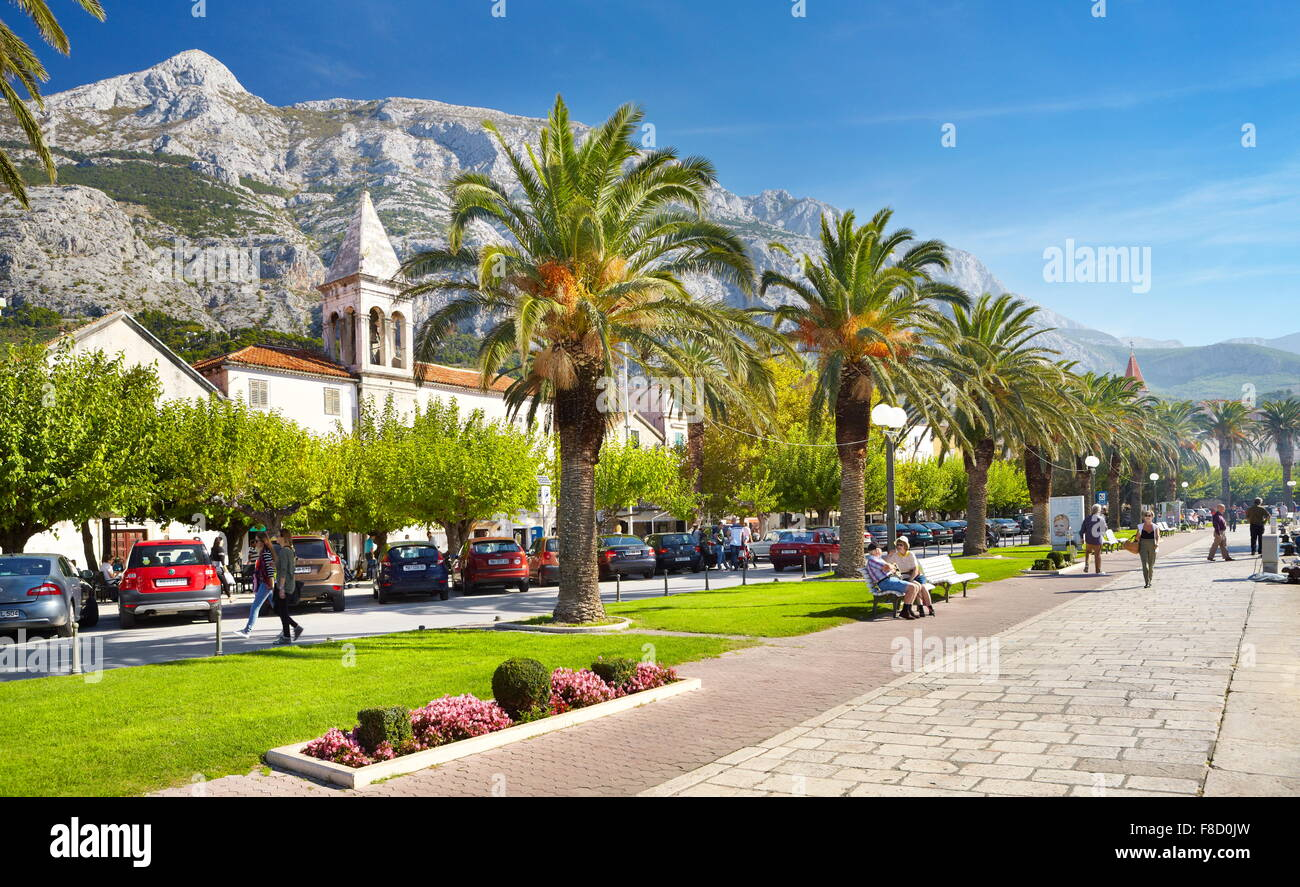 Village de Makarska, Croatie - Makarska Riviera Photo Stock