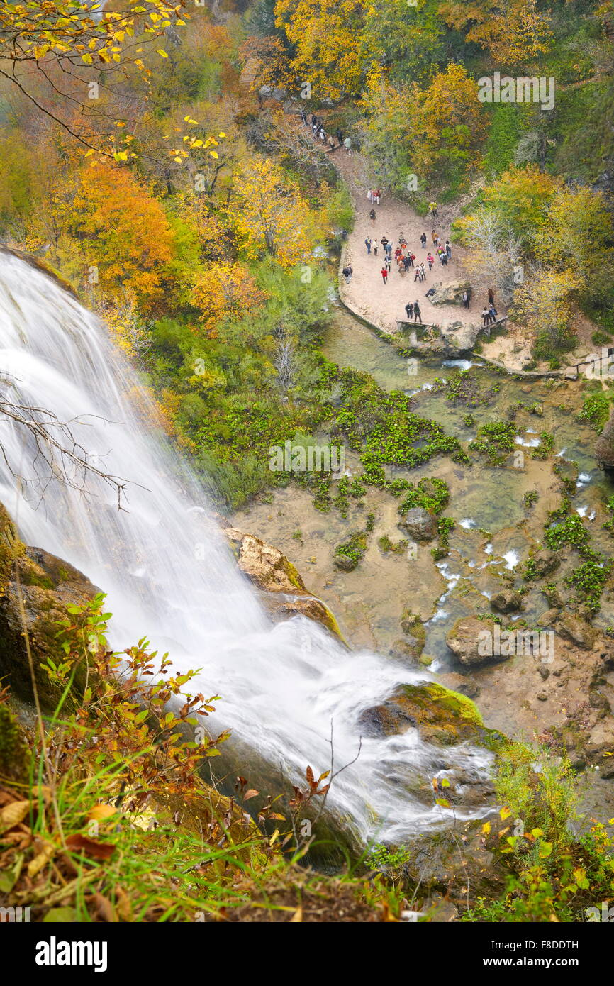 Plitvicka Jezera, le parc national des Lacs de Plitvice, Croatie, l'UNESCO Photo Stock