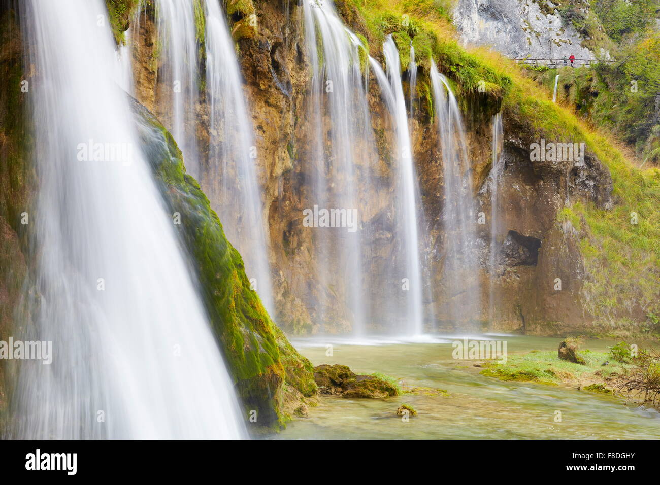 Le parc national des Lacs de Plitvice, Croatie, l'UNESCO Photo Stock