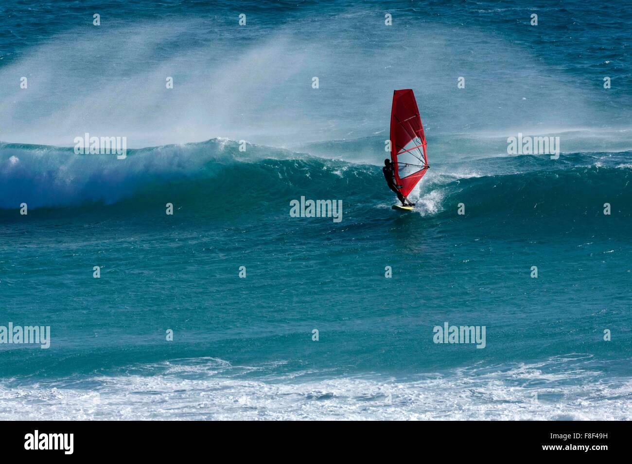 La planche à voile, Esperance Australie Occidentale Photo Stock