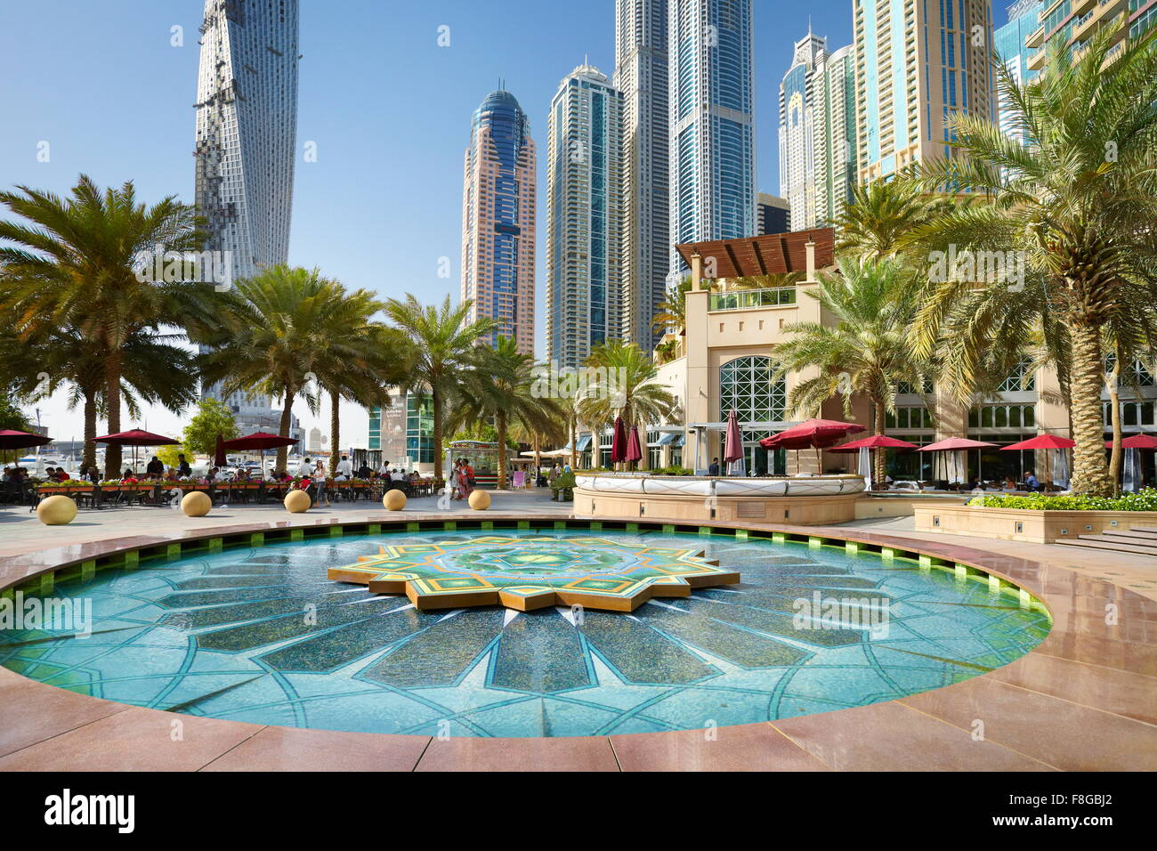 Dubaï - Emirats Arabes Unis, Marina Photo Stock