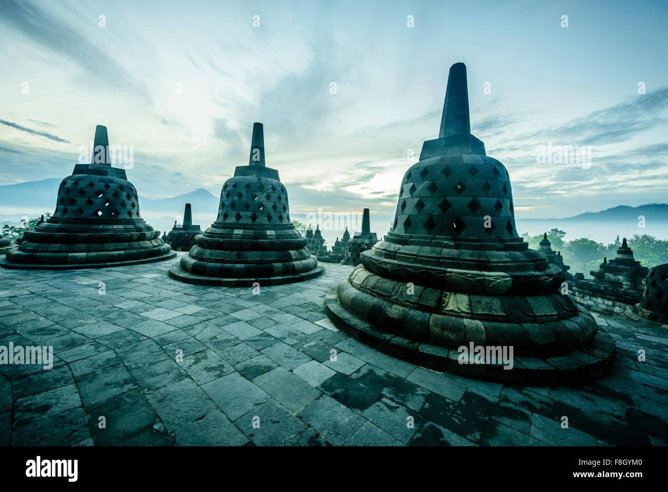 Monuments de Borobudur, Jawa Tengah, Indonésie Photo Stock