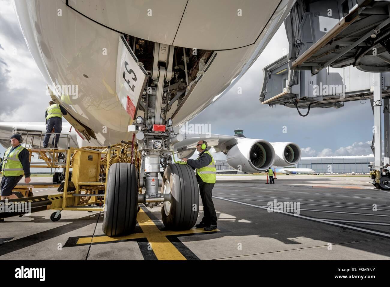 Ingénieur en chef du contrôle d'A380 Photo Stock