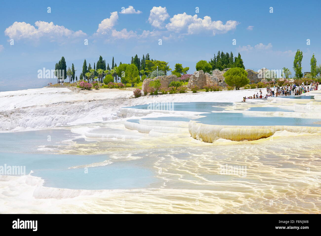 Terrasses calcaires de Pamukkale, Turquie, Photo Stock