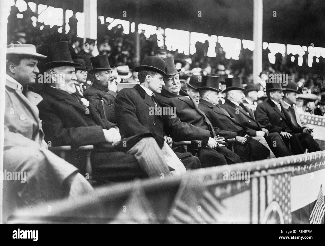 Le président des États-Unis, William H. Taft au jeu de base-ball, Washington, DC, USA, vers 1910 Photo Stock