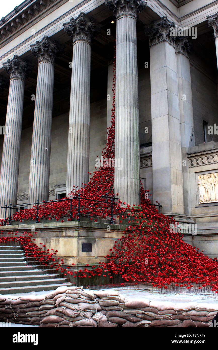 Pleureur 'Fenêtre' coquelicots au St George's Hall Liverpool Photo Stock