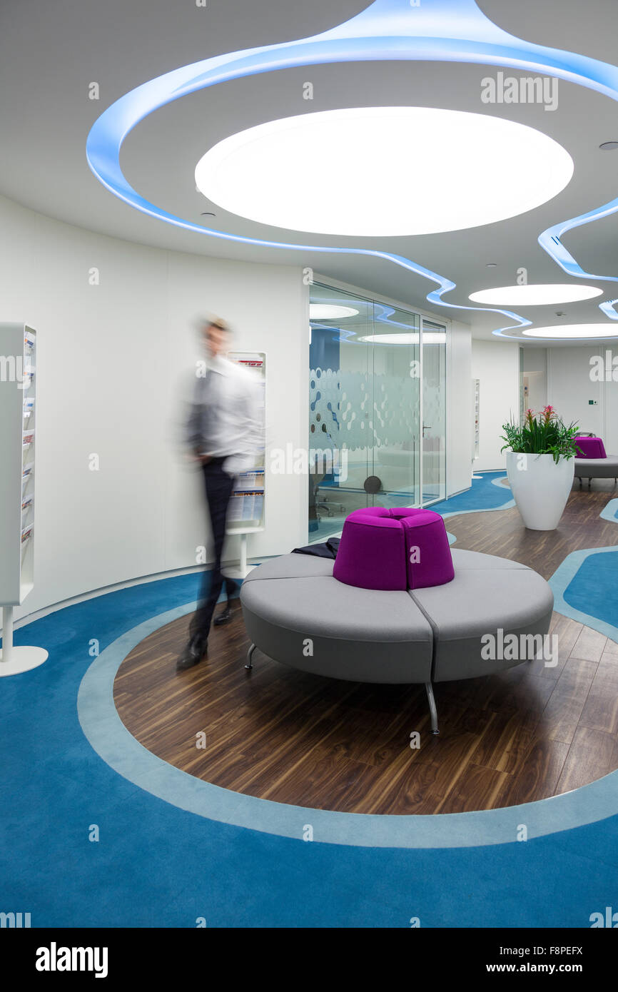 Businessman in modern office,Ville de London,UK Photo Stock