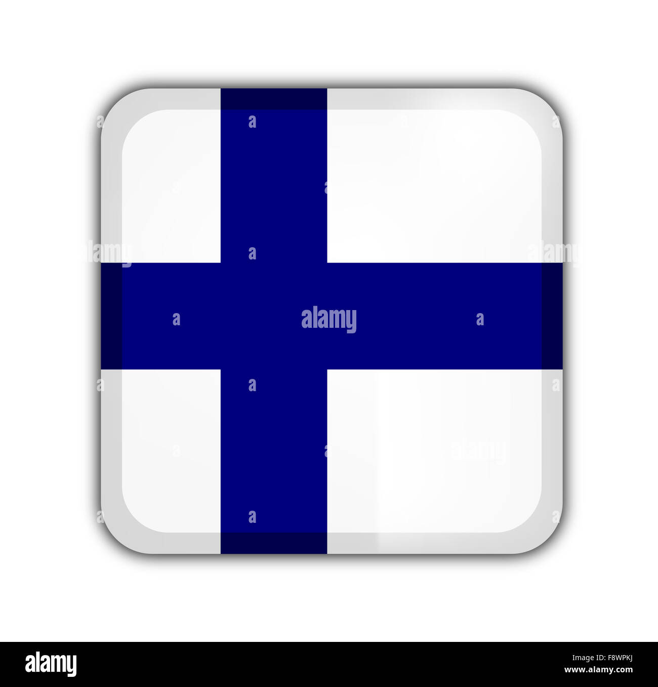 drapeau de la Finlande Photo Stock