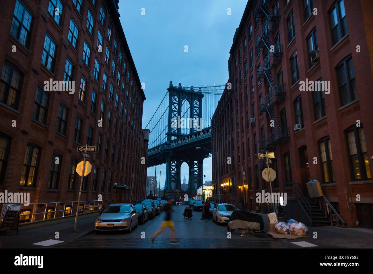 Pont de Manhattan, New York City, USA. Banque D'Images