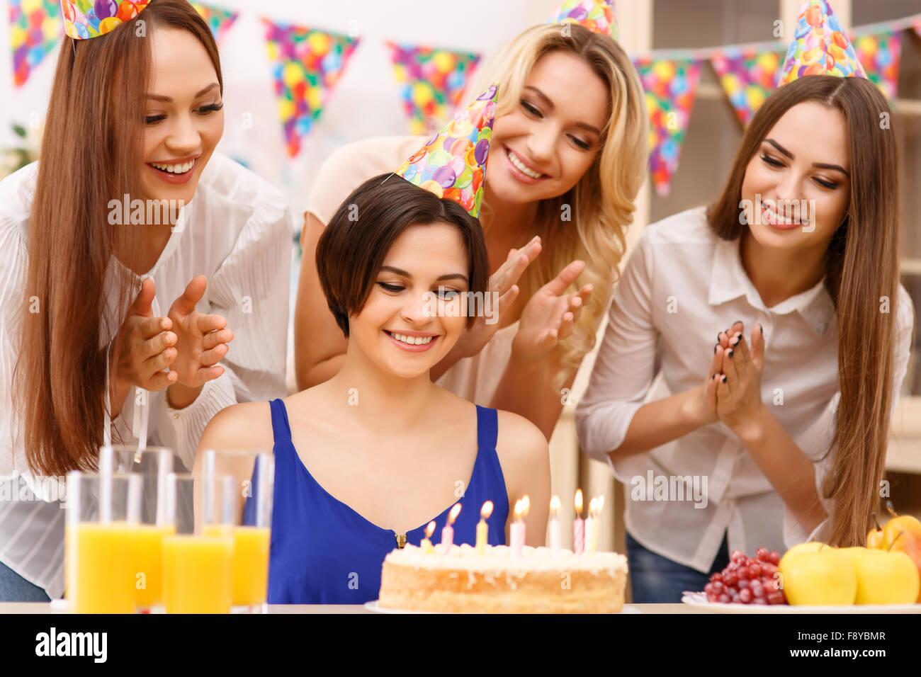 Pour fêter un anniversaire. Photo Stock