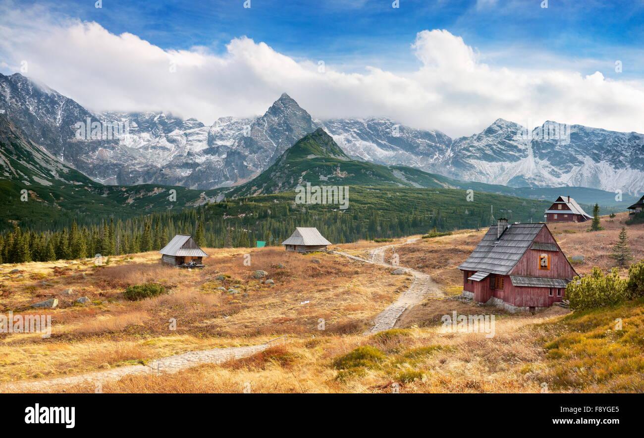 Vallée gąsienicowa - montagnes Tatras, Pologne Photo Stock