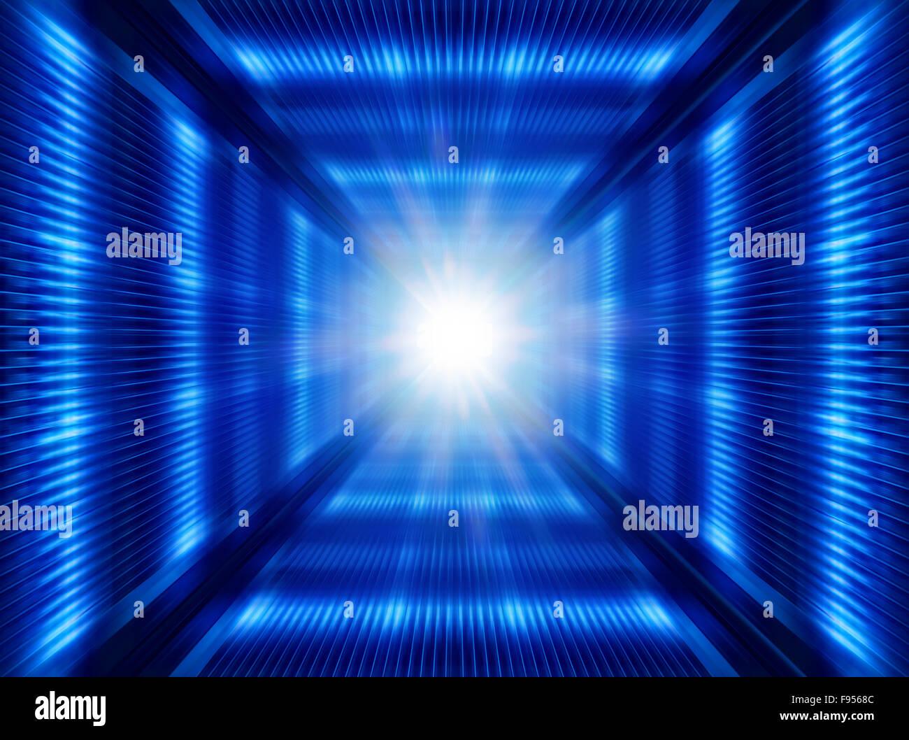 Multi-couleur lumineux graissé abstract background, illustration futuriste Photo Stock