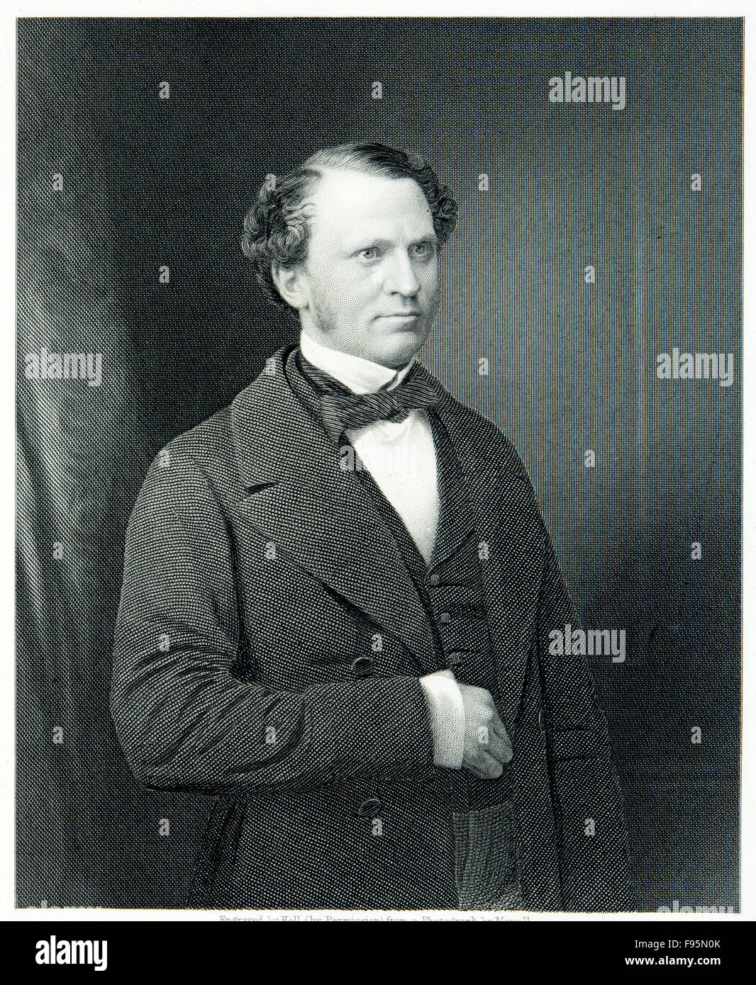 Le très honorable Edward Henry Stanley, comte de Derby. Photo Stock