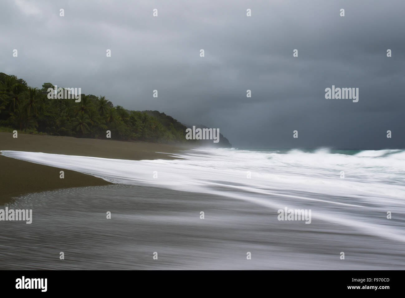 Littoral de la pénisule d'Osa au Costa Rica Photo Stock