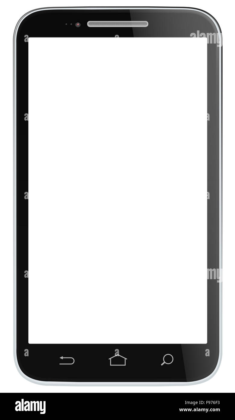 Marque non classique Noir Smartphone. Vector EPS 10. Photo Stock