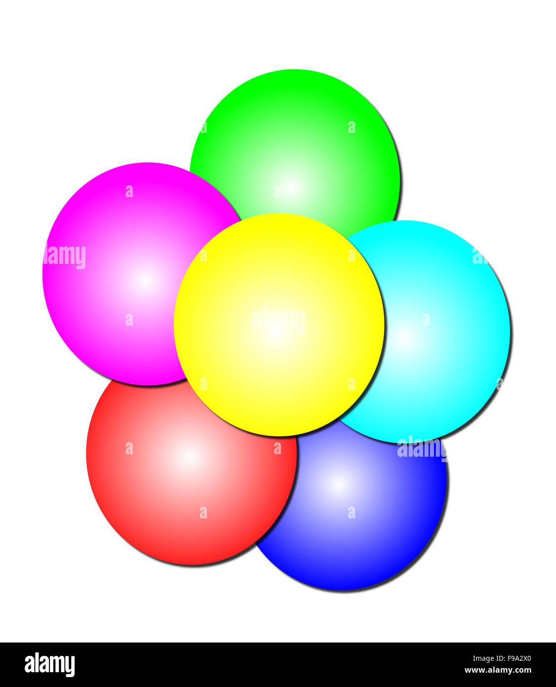 Les cercles de la pile Photo Stock