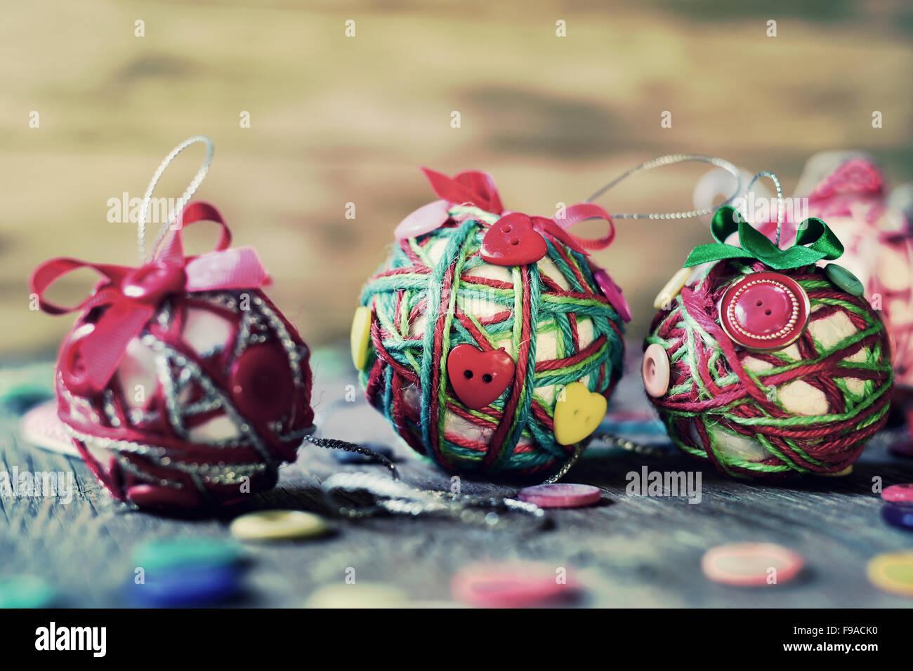 Boule De Noel Ficelle.Libre De Quelques Différentes Boules De Noël Faites à La