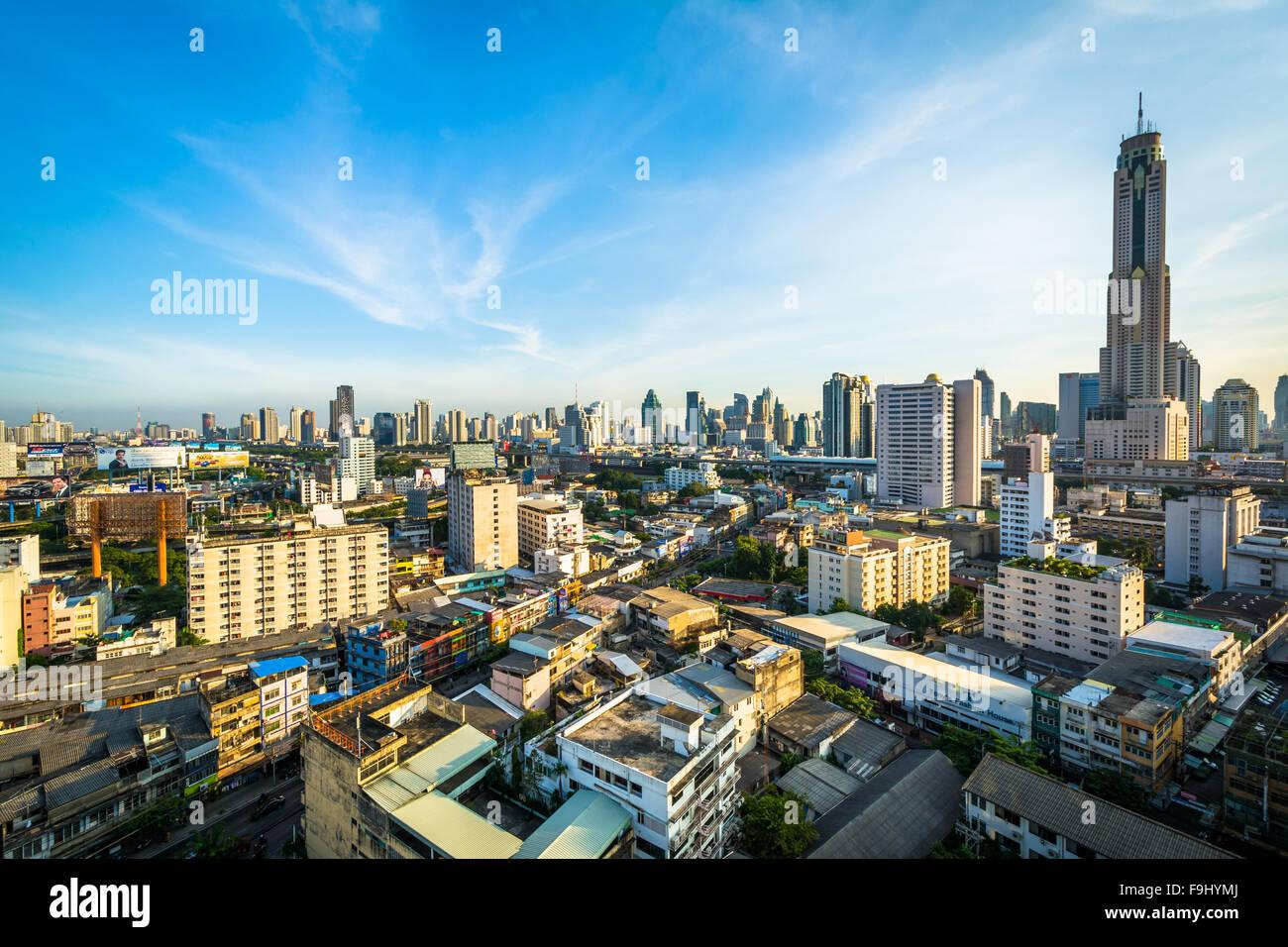 Vue de la Ratchathewi District, à Bangkok, Thaïlande. Photo Stock