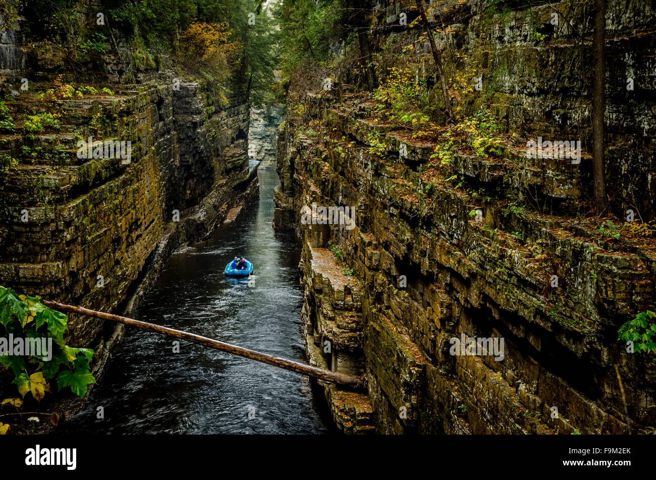 Gorges de la rivière Ausable Chasm, Adirondack, New York Banque D'Images