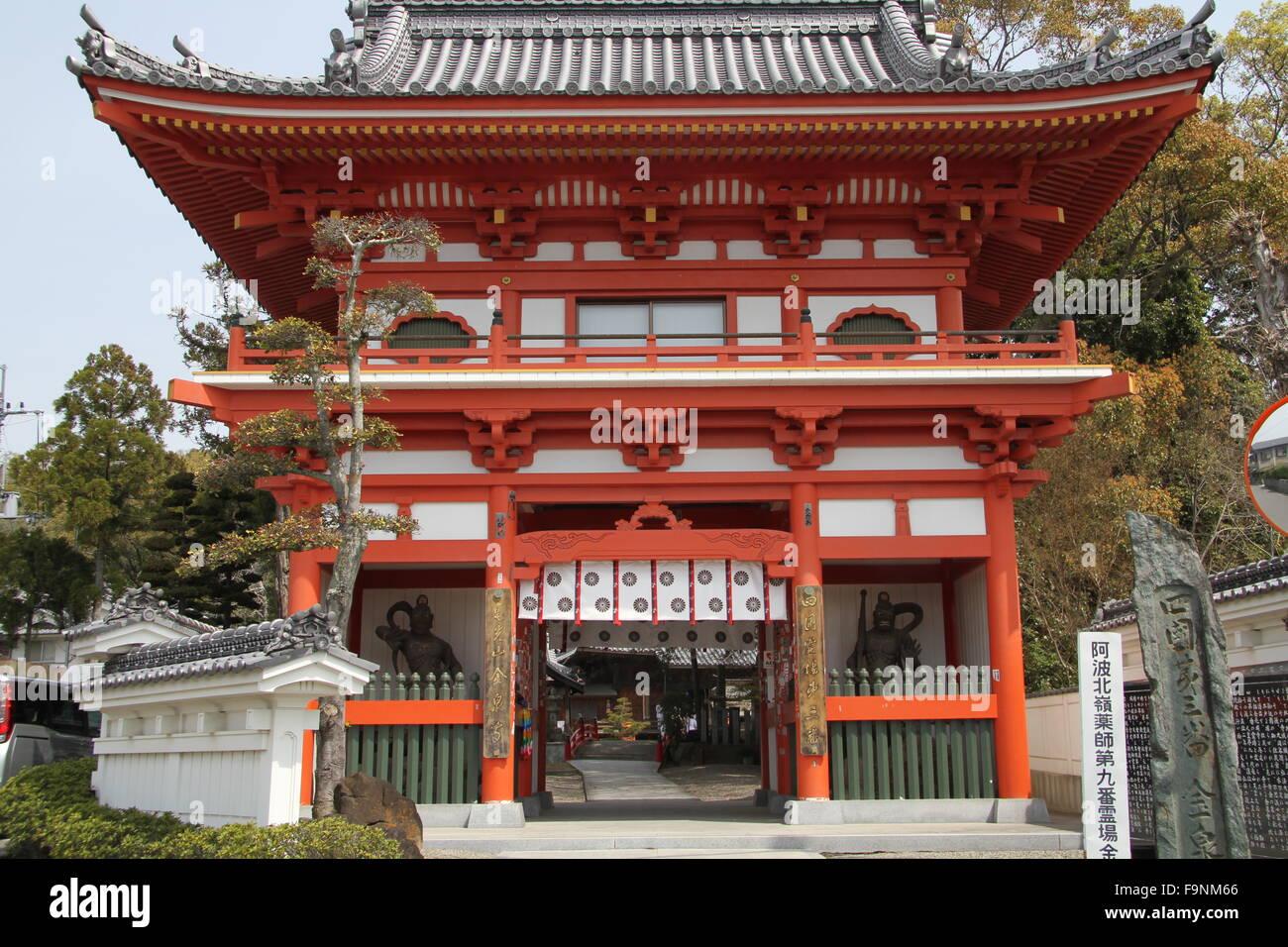 Temple gate, Shikoku Photo Stock