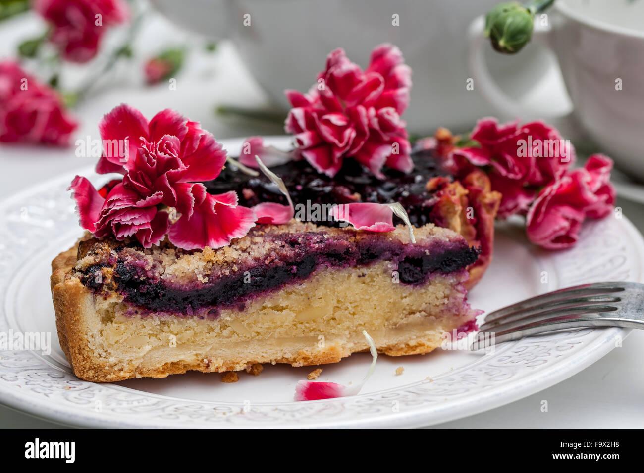 Materiel Fleurs Comestibles Rose Un Gateau Aux Fruits Procedure