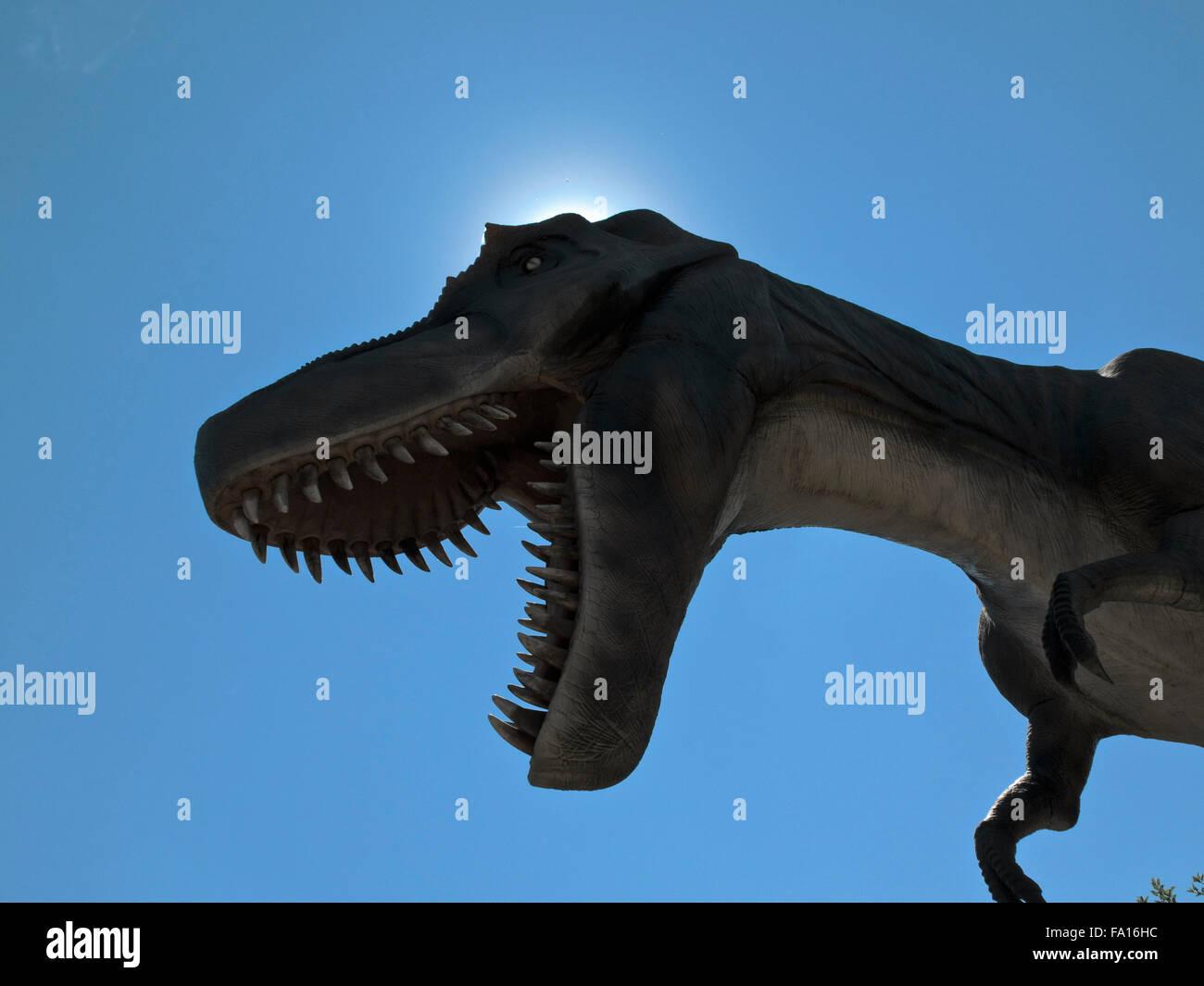 """Le Zoo de Calgary parc des dinosaures est 'Dinosaurs en vie"""" Banque D'Images"""