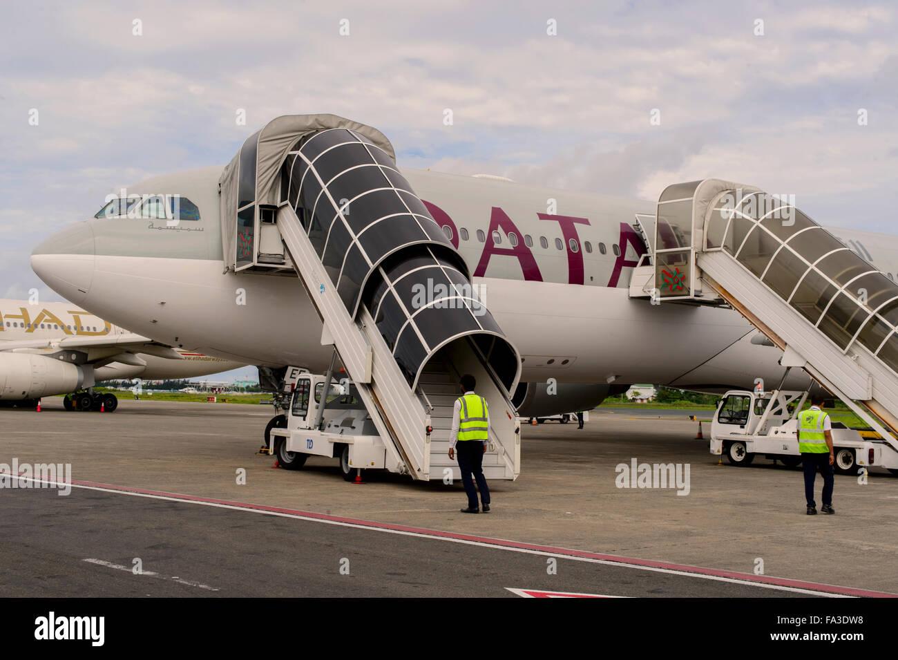 L'aéroport de Doha, Qatar, Banque D'Images