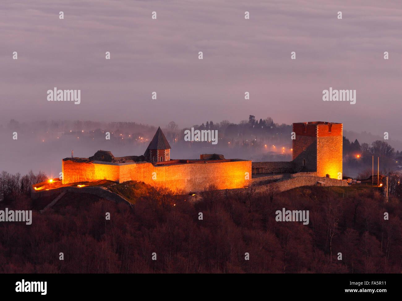 Fort Medvedgrad près de Zagreb capitale Photo Stock