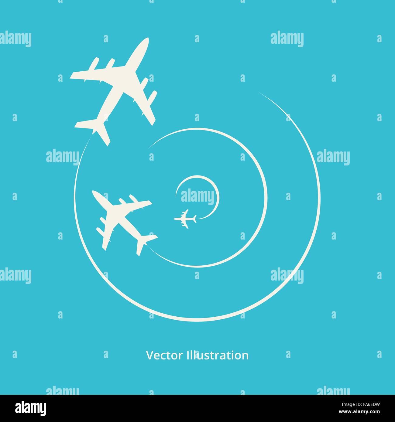 Silhouette vecteur d'avions pour votre conception Photo Stock