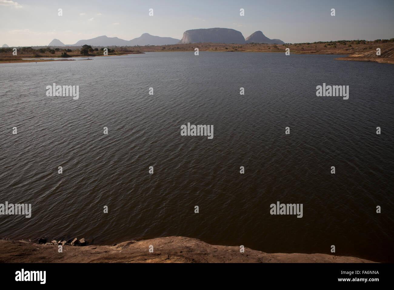 Le barrage Manapo alimente en eau la ville de Nampula, Mozambique et les zones au-delà. Photo Stock