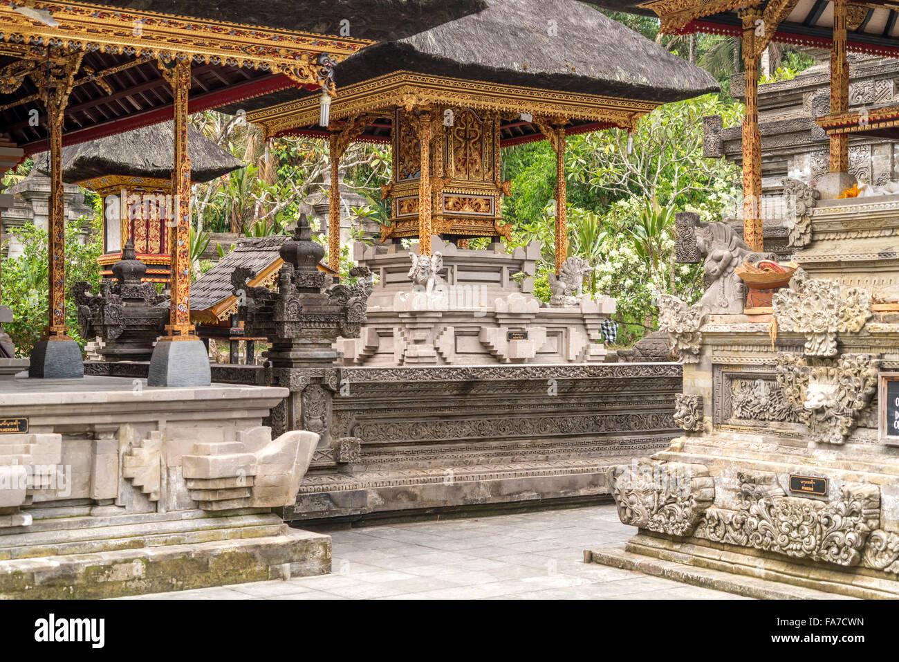 L'Hindu Temple de l'eau près de Tirta Empul Ubud, Bali, Indonésie Photo Stock