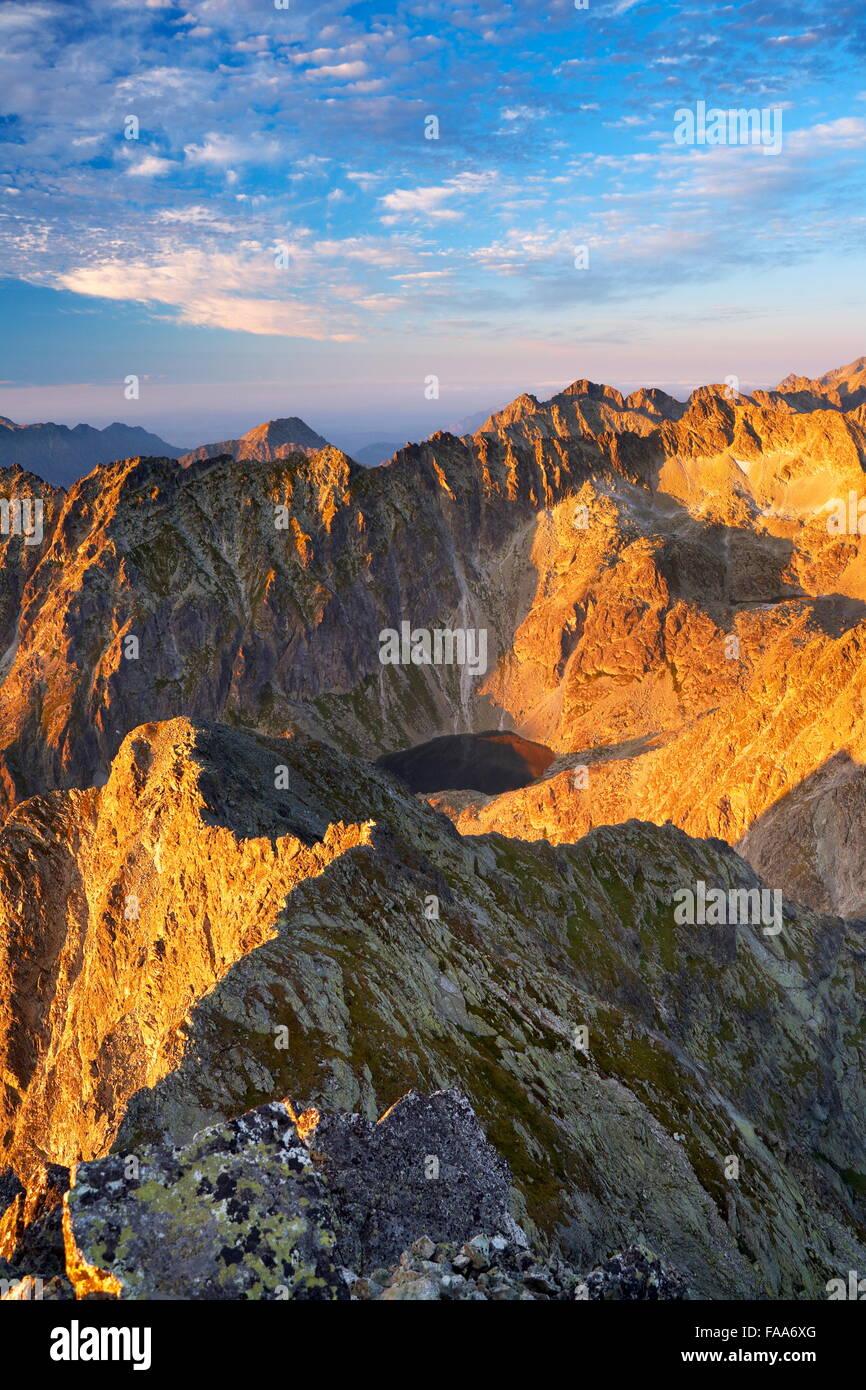 Voir à Hautes Tatras de Krywan peak, Slovaquie Photo Stock