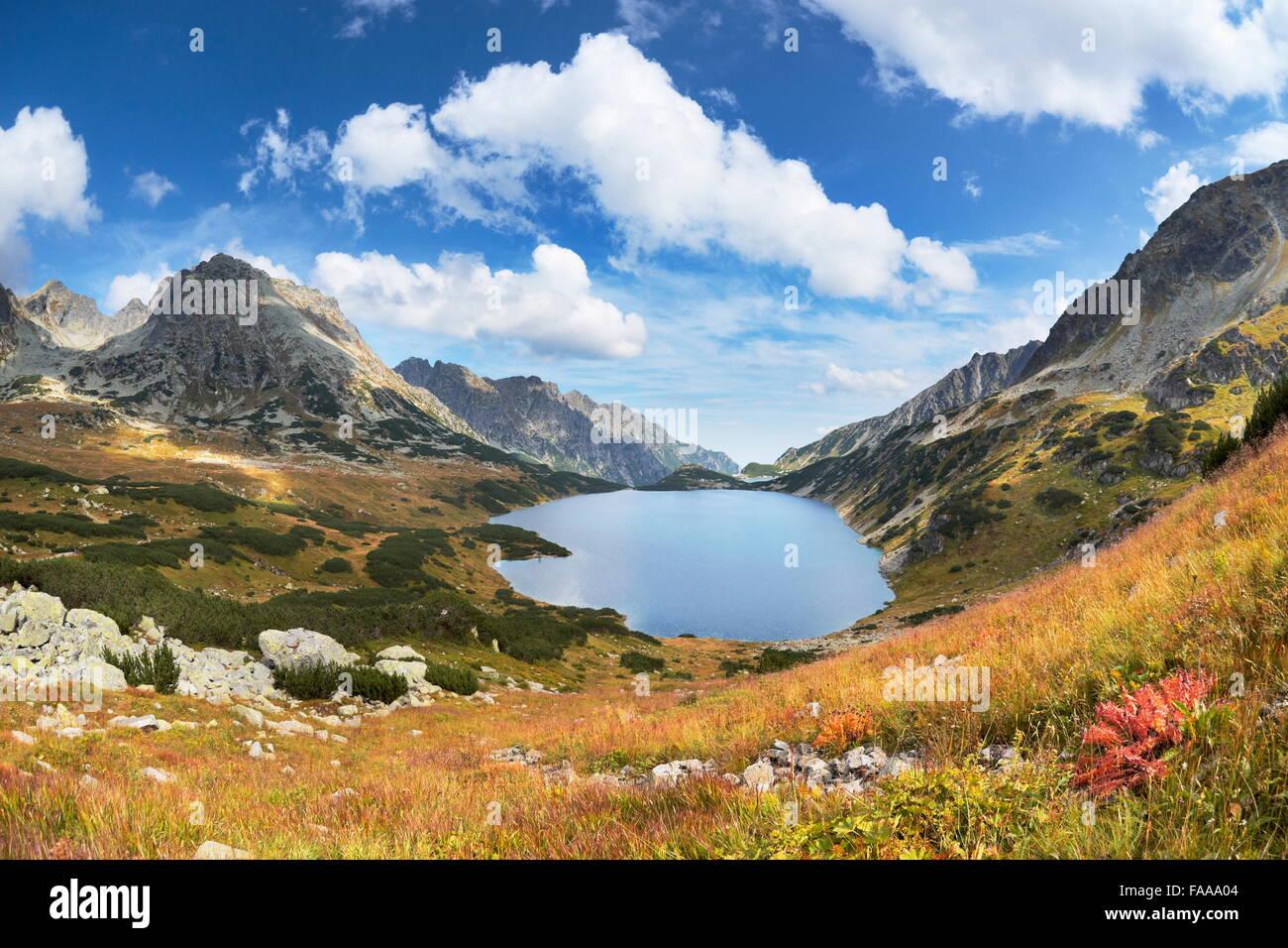 Les montagnes de Tatra, cinq lacs Valley, Pologne Photo Stock