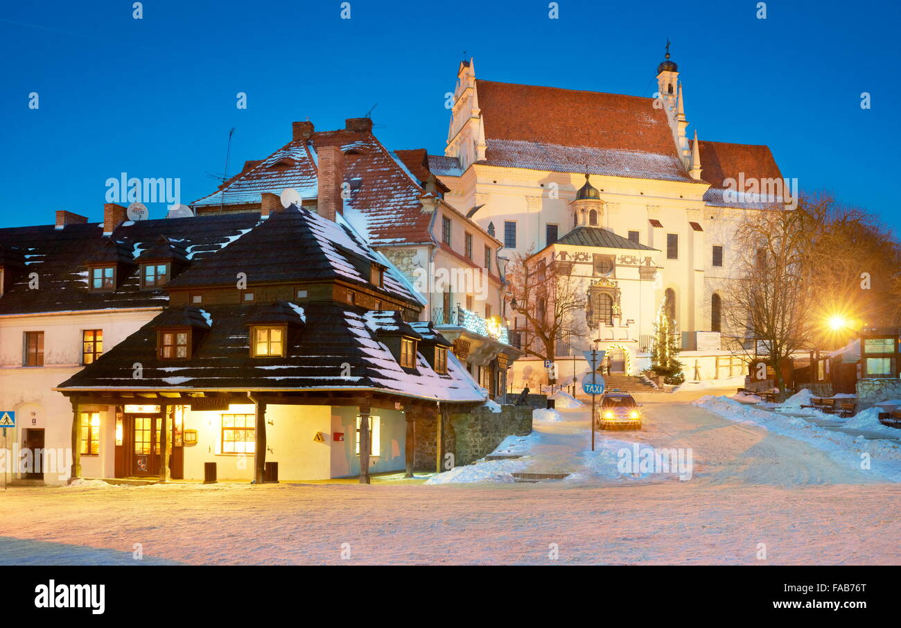 Kazimierz Dolny - La place du marché, de la vieille ville, Pologne Photo Stock