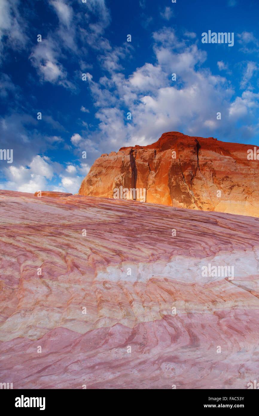 La Vallée de Feu State Park, près de Las Vegas, Nevada. Banque D'Images