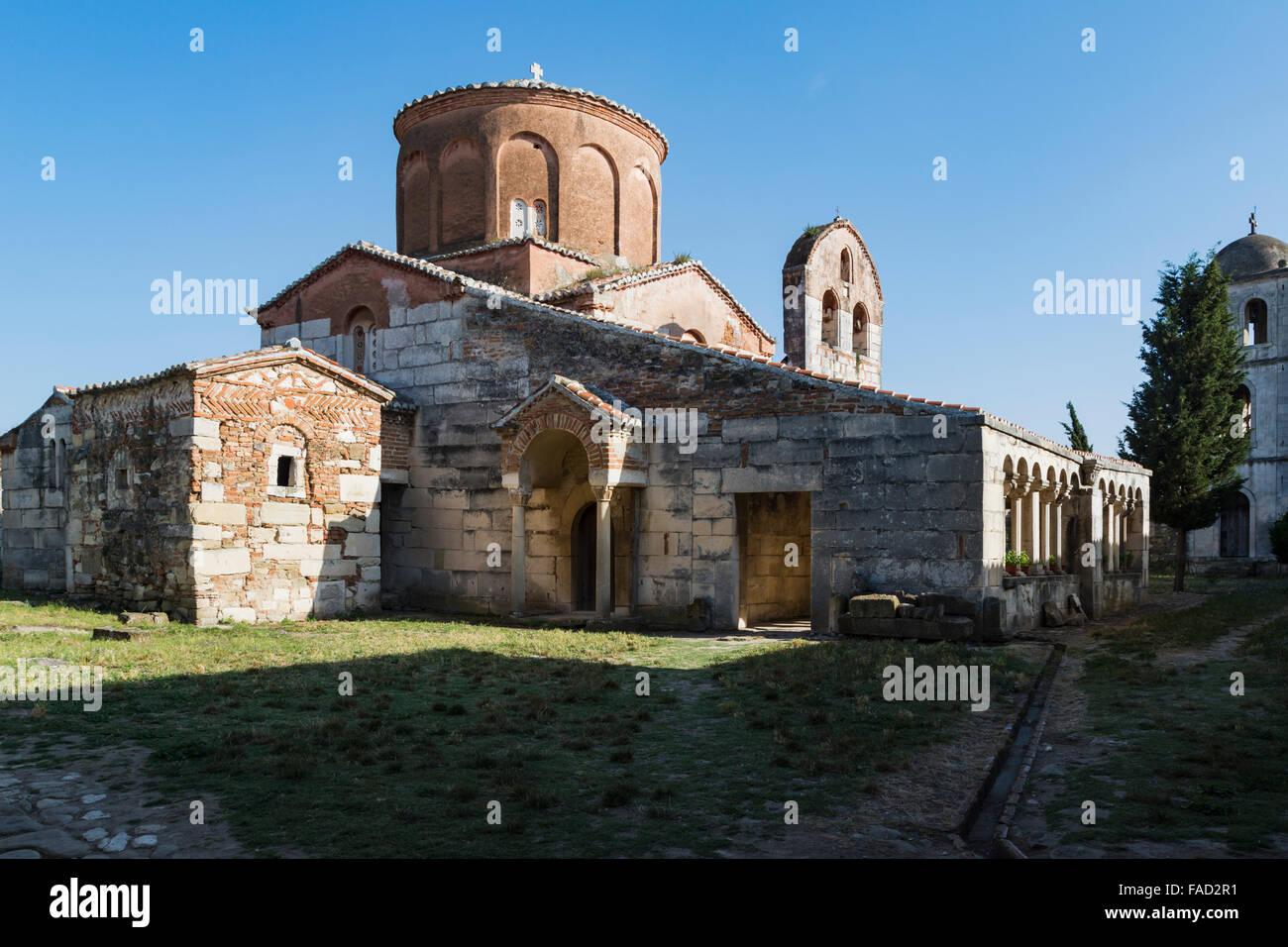 Apollonia, ou Apoloni, Fier Région, l'Albanie. Treizième siècle Monastère et église Photo Stock
