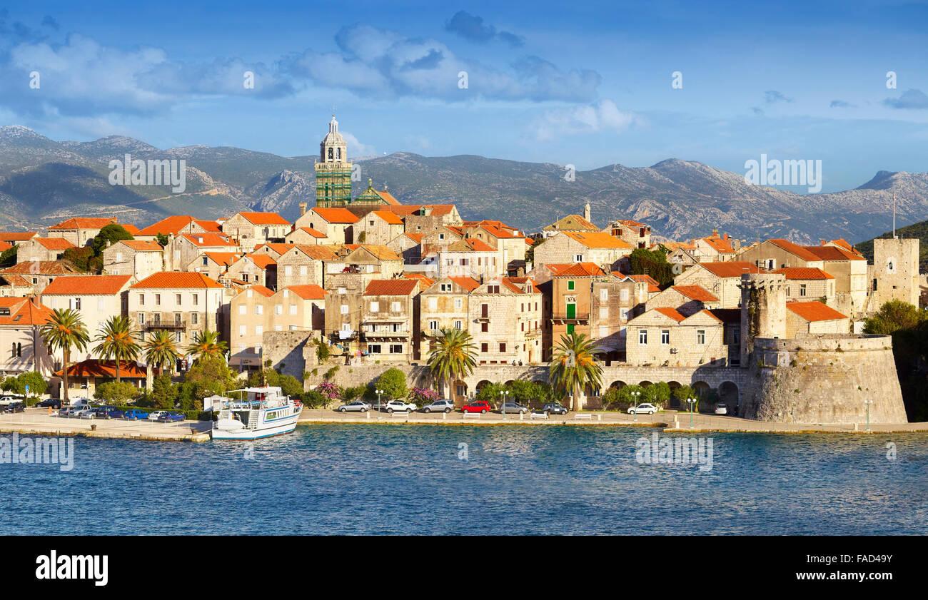 L'île de Korcula, Dubrovnik, Croatie, Europe Photo Stock