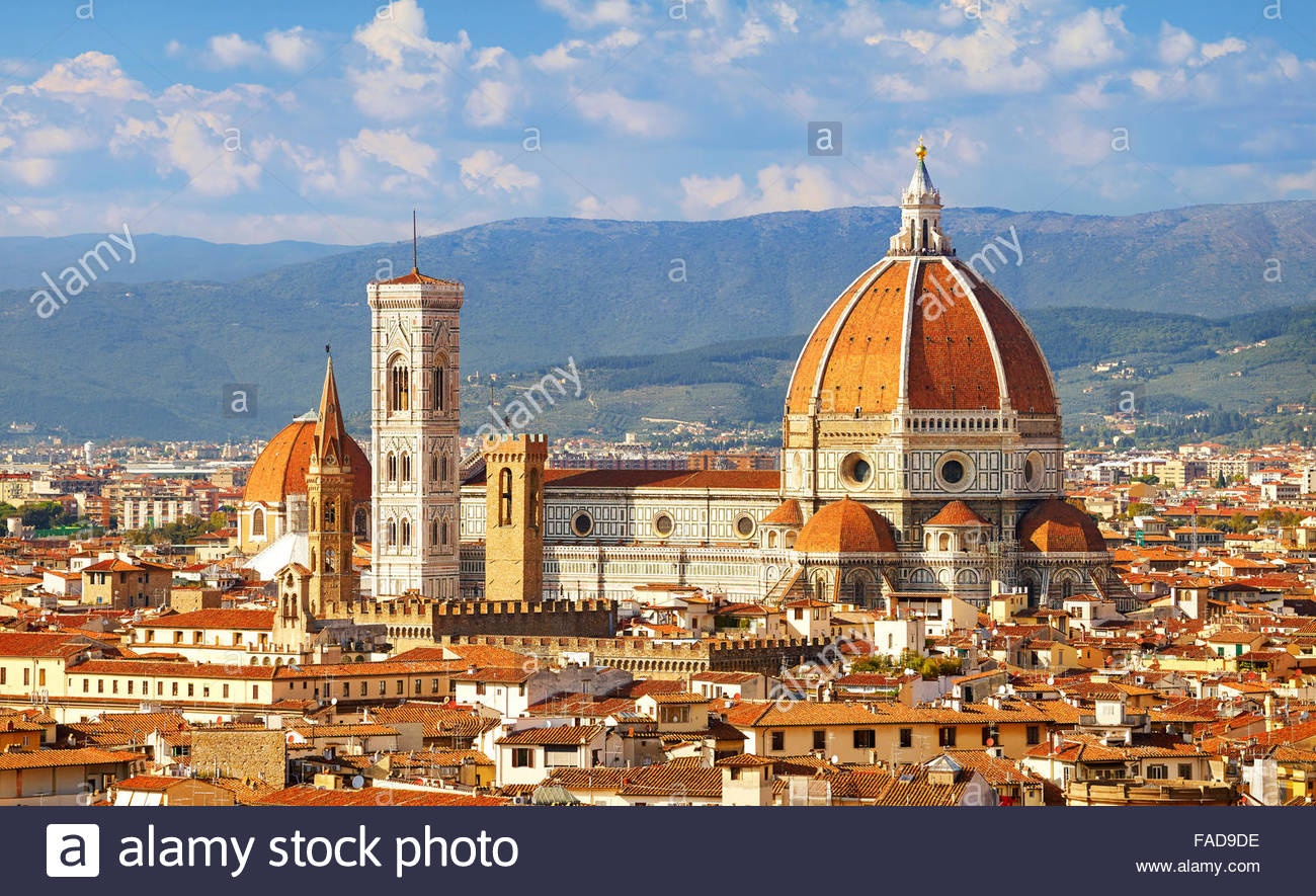 Basílica de Santa Maria del Fiore, Florence, Toscane, Italie Photo Stock