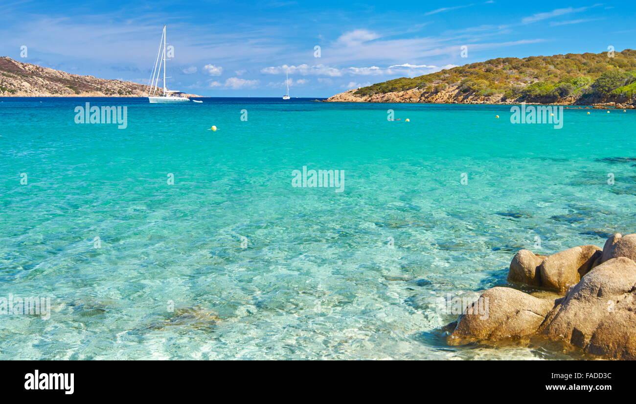 Plage Cala Portese, île de Caprera, Sardaigne, Italie Photo Stock