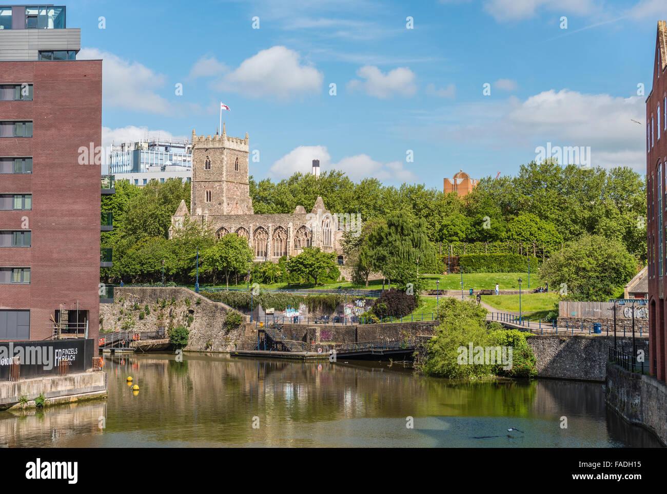 Castle Park au centre-ville de Bristol, Somerset, Angleterre Banque D'Images