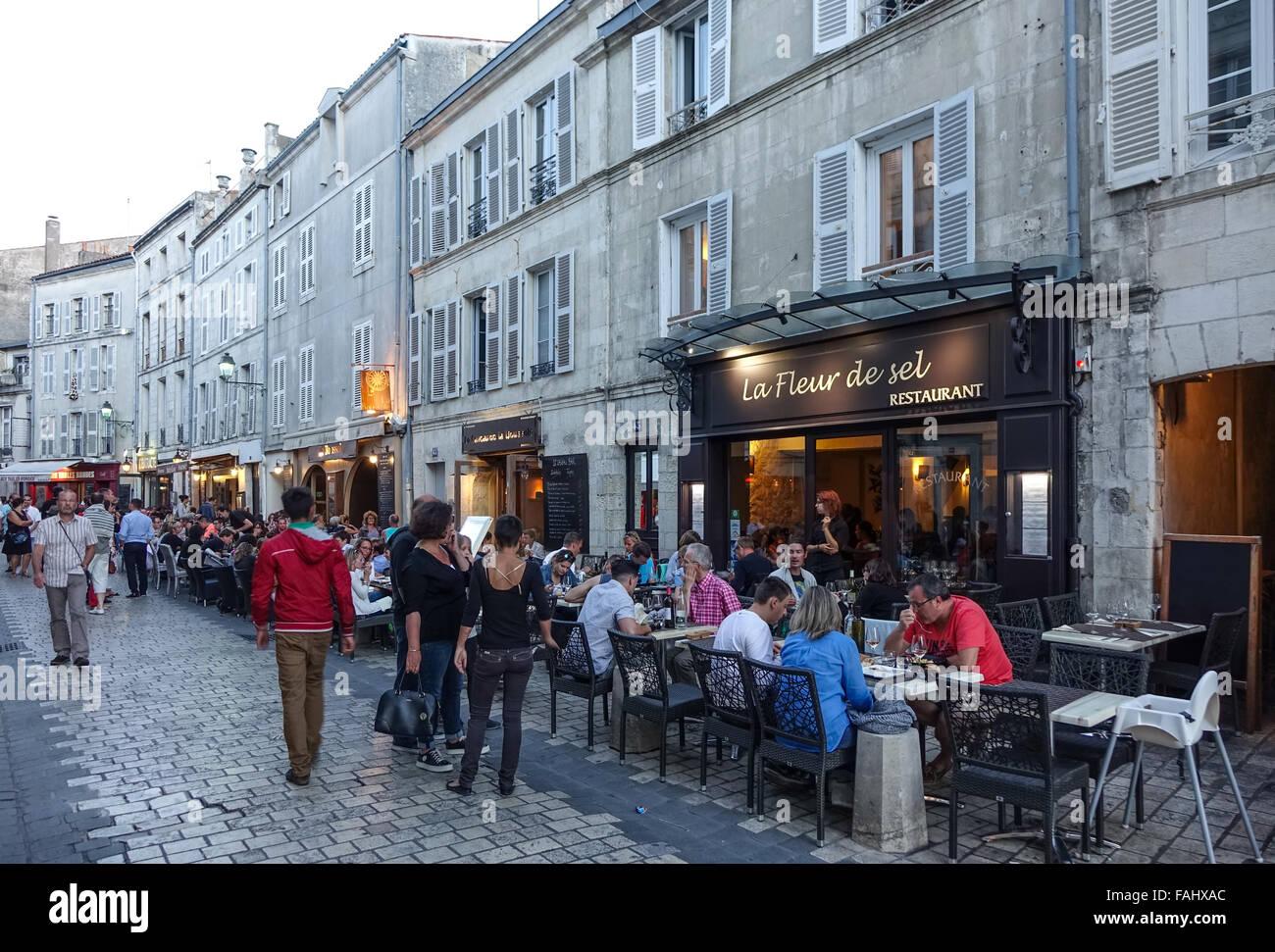 La Rochelle, France. station destination. la fleur de sel restaurant Photo Stock